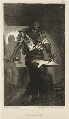A Blacksmith - Eugene Delacroix - Completion Date: 1833