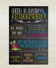 Retirement Poster, Margaritaville Theme; DIGITAL OR PRINTED on Etsy, $11.50