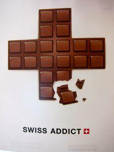 Swiss Chocolate Addict! Love this. I'm totally addict to swiss chocolats ♥