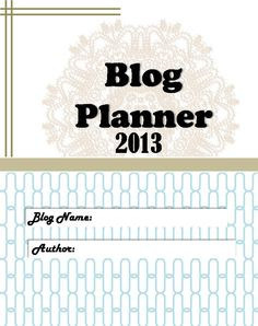 Blog Planner II Front Cover