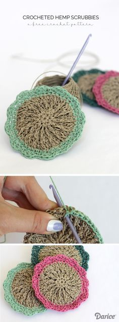 Make your own crocheted hemp scrubbies with this tutorial. Hemp is naturally antibacterial which makes it the perfect material for making scrubbies!