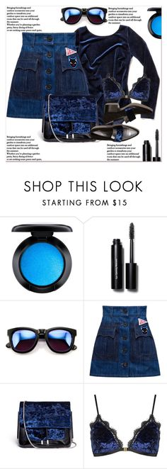 """""""Viva La Velvet !"""" by dragananovcic ❤ liked on Polyvore featuring MAC Cosmetics, Bobbi Brown Cosmetics, Wildfox, 3.1 Phillip Lim and Topshop"""
