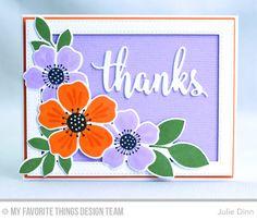 Kreative Jewels: MFT Flashy Florals May Card Kit by Julie Dinn.