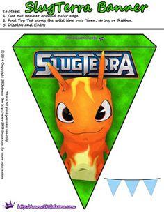 Slugterra printable burpy banner ~ Free Slugterra Party Printables, and Crafts | SKGaleana #slugterra