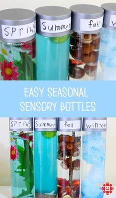 Sensory Bottles For Toddlers, Sensory Bottles Preschool, Sensory Bags, Sensory Play, Preschool Activities, Baby Sensory Bottles, Science Center Preschool, Science Centers, Sensory Rooms