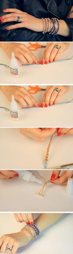 D.I.Y Rhinstone Wrap Bracelet