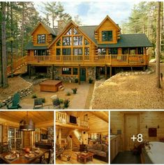 Chad and Shae house ideas - Chad and Shae house ideas - Log Cabin Living, Small Log Cabin, Log Cabin Homes, Log Cabins, Dream House Exterior, Dream House Plans, Dream Home Design, My Dream Home, Dream Homes
