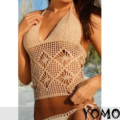 2pcs Handmade Sexy Bikini Cover Up Crochet Beach Swimsuit Swimwear | eBay
