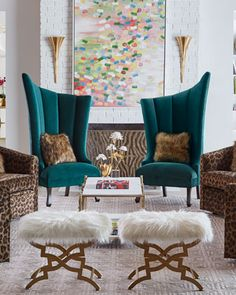 Shop Kendall Left Slant Chair and Matching Items from Haute House at Horchow, where you'll find new lower shipping on hundreds of home furnishings and gifts. Sofa Design, Furniture Design, Interior Design, Glam Living Room, Living Room Decor, Decoration Chic, Luxury Living, Luxury Dining Room, Living Room Furniture