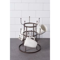 Coffee Mug Holder, Coffee Set, Coffee Cups, Coffee Tables, Home Coffee Stations, Drink Stations, Mug Tree, Mug Rack, Diy Kitchen Storage