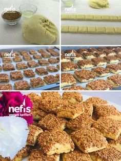Sesame Salted (Perfect Taste Spreading in the Mouth) How to make a recipe? Here is a pictorial description of this recipe in the book of people and photographs of the experimenters. Authors: Kübra Özaydin TüreInformations About Susamlı Tuzlular No Bake Desserts, Dessert Recipes, Sweet Cookies, I Foods, Food To Make, Cereal, Food And Drink, Yummy Food, Sweets