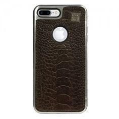 Carcasa iPhone 7 Plus Piel Pata de Avestruz Marrón. Finger 360 Calidad en Piel #carcasa #avestruz #anticaidas #anillo #finger360 #liso #pata_de_avestruz #iphone7 #iphone7plus #marrón #piel #funda_piel #natural