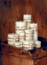 Smooth Ivory Beeswax Candles