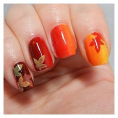 Thanksgiving Nail Art Ideas More Tantalizing Than Pumpkin Pie featuring and polyvore,
