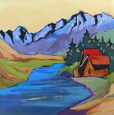 Daily Painting Sawtooth Country contemporary landscape, painting by artist Carolee Clark
