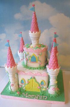 Beautiful castle cake- great detail work