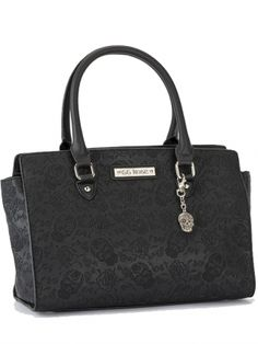 """Women's """"Sugar Skull"""" GG Rose Handbag by Rock Rebel (Black)"""
