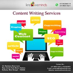 We provide professional Content Writing Services Visit Us at: www.kre8iveminds.com Or Call US at: +91 9903118211