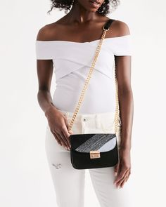 Shopping Goods Brilliant White & Black   Kin Custom: On-Demand Print and Dropship, Made Easy Small Shoulder Bag, Shoulder Strap, Urban Chic, Cool Names, Grunge Fashion, Really Cool Stuff, 3 D, Pairs, Stylish