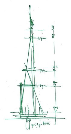 Drawings. The Shard (London Bridge Tower), London, England, 2013 | Renzo Piano | image © renzo piano building workshop