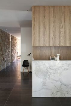 Unattributed interior (marble wall accents)