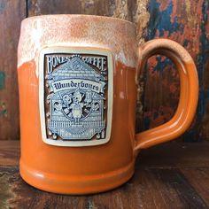Wunderbones Handthrown German Tankard from Bones Coffee Company Ceramic Mugs, Stoneware, Deathwish Coffee, Coffee Beans, Coffee Mugs, Coffee Shop Names, Coffee Concentrate, Yogurt Smoothies, Coffee Company