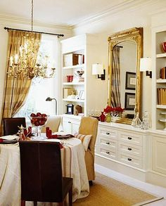 Dining room built-ins.