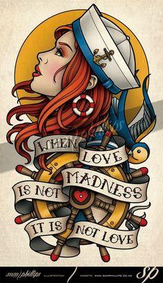 Sams Blog: Sailor Girl Love Tattoo