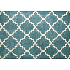 Traditional Decorative Plumes Blue Area Rugs, 4 Feet by 6 Feet (4' x 6')