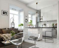 come arredare cucina salotto open space con mobili della cucina ...