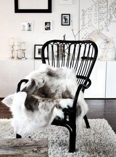 Paint the nursery rocking chair black