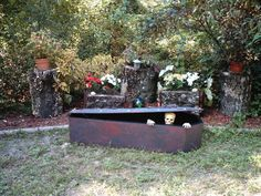How to build your own Styrofoam Coffin for Halloween!