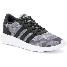 Adidas NEO Couldfoam Lite Racer Women's Print Shoes ($65) ❤ liked on Polyvore featuring shoes, athletic shoes, black, adidas footwear, adidas, lace up shoes and lightweight athletic shoes
