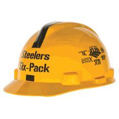 MSA V-Gard Steelers Six Pack NFL Hard Hat 413eb836c