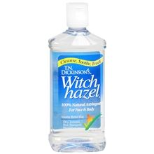 **I have this stuff now and let me tell you my makeup comes off super easy. And not to mention it is great for absorbing oil. Be careful because it can make your skin dry. So moisturize accordingly.** To mix with olive oil to make a home made eye makeup remover take a little pump bottle and add about 60% witch hazel and 40% olive oil. Shake before each use.