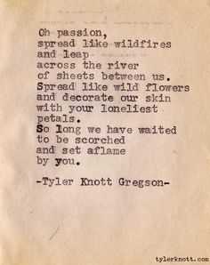 Typewriter Series #7 by Tyler Knott Gregson