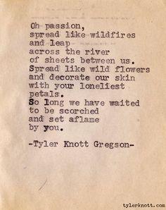 Typewriter Series #7 by Tyler Knott Gregson