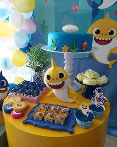 Festa Baby Shark: 70 ideias e tutoriais para uma decoração animal Boys First Birthday Party Ideas, Birthday Themes For Boys, Baby Boy First Birthday, 50th Birthday Party, Shark Cake, Shark Party, Baby Shark, First Birthdays, Animal