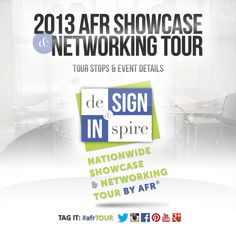 Our AFR Nationwide Showcase & Networking Tour is coming to a city near you! Tag it: #afrTOUR