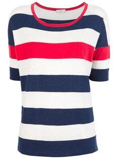 PAUL SMITH Short Sleeve Striped Sweater