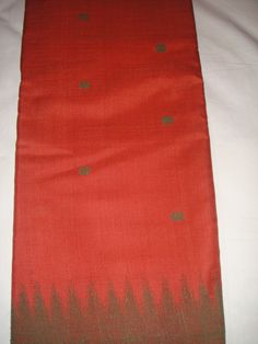 One of our  handwoven  pure Ahimsa silk veg dyed saree...