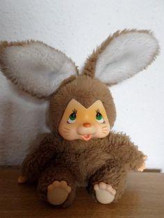 Vintage RARE Cute Monchichi Bunny