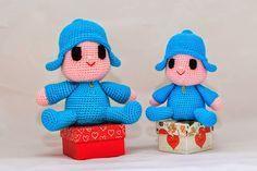 AMIGURUMI POCOYO:                       Patrón:   Abreviaturas:  AM- anillo mágico- magic ring.  Pb- punto bajo- single crochet.  Pe- pun...