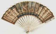 Fan, English, 1780-1800, Gouache on paper; pierced ivory sticks and guards,  Dimensions: 19 5/16 x 10 13/16 inches, Philadelphia Museum of Art, Accession# 1899-781