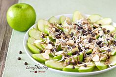 Awesome! Paleo Apple 'Nachos' | Living Healthy With Chocolate