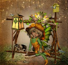 ♥ Little Design ♥ Mythological Creatures, Mythical Creatures, Keane Big Eyes, Little Designs, Square Card, Fairy Art, Fairy Dolls, Grafik Design, Cute Dolls