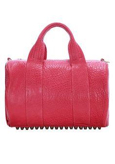 Baginc Alexa Duffle Studded Calfskin Leather Bag Pink - $159.00