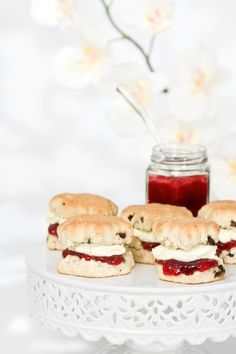 delicious looking scones with clotted cream & jam
