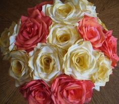 Coffee Filter Roses- What!? I would have never guessed these roses were made from coffee filters. I'm going to have to try this!