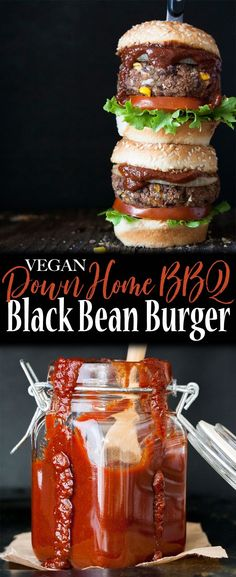 Vegan Down Home BBQ Black Bean Burger
